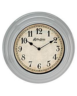 Hometime Grey Wall Clock 30cm