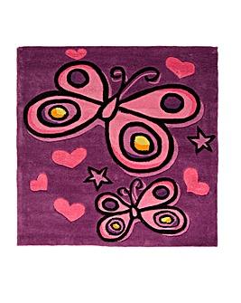 Butterfly Design Kids Rug