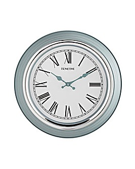 Hometime Plastic and Chrome Wall Clock