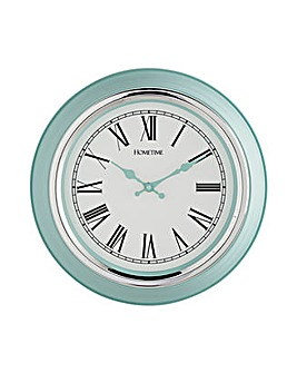 Plastic and Chrome Wall Clock - Breeze