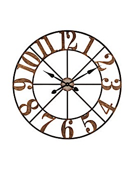 Skeleton Metal 80cm Wall Clock