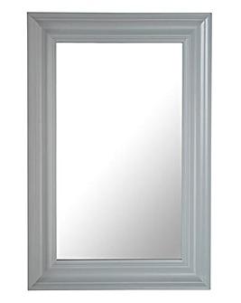 Iris Fir Wood Mirror Matt Grey