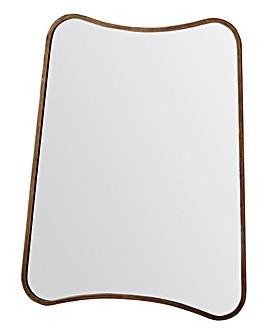 Kurva Gold Rectangle Mirror