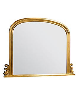 Thornby Large Gold Over Mantel Mirror