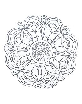 Mandala Wall Sticker Grey