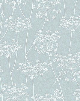 Graham and Brown Aura Blue Wallpaper