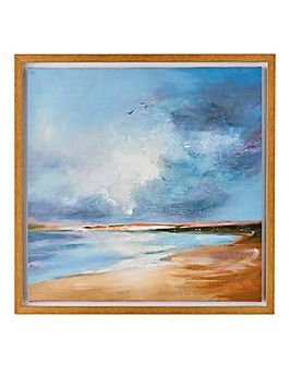 Arthouse Painted Seascape Framed Canvas