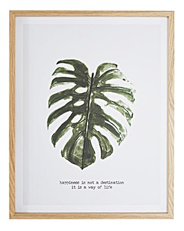 Palm Leaf Paperwrap Hanging Plaque