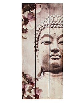 Buddha Print On Wood