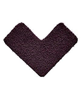 Shaggy Ultra Absorbent L Shape Bath Mat