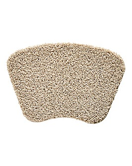 Shaggy Ultra Absorbent Curved Bath Mat