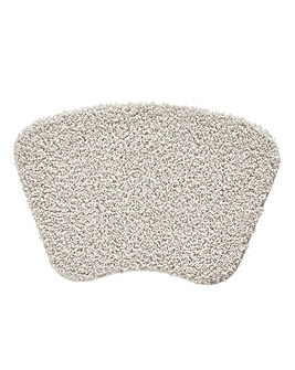 Shaggy Ultra Absorbent Curved Bath Mat