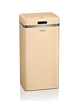Swan Retro 45l Square Sensor Bin - Cream