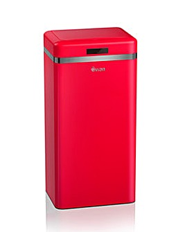 Swan Retro 45L Square Sensor Bin - Red