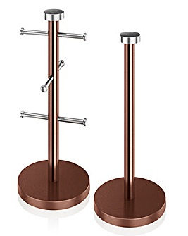 Mug Tree and Towel Pole Set Copper