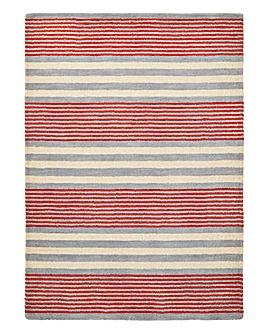 Parker Orange Stripe Wool Rug Large