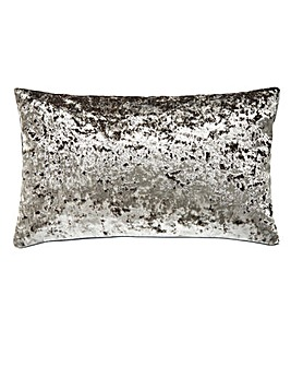 Crushed Velvet Silver Cushion