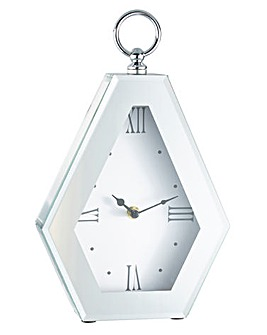 Glass Diamond Shape Mantel Clock