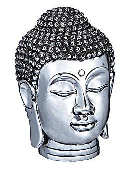 Buddha Head Figurine Silver