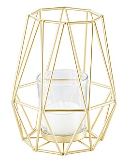 Gold Tealight Holder Tall
