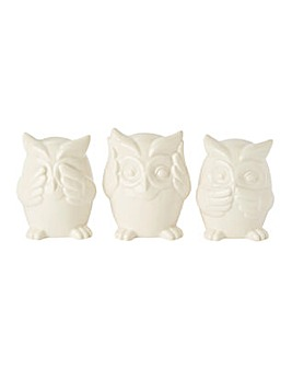 No Evil Owls Set of 3