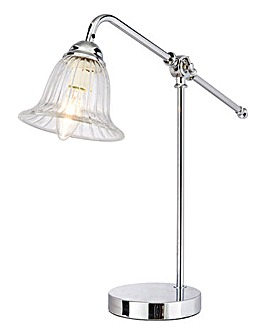 Chelsea Chrome Table Lamp With Cut Glass