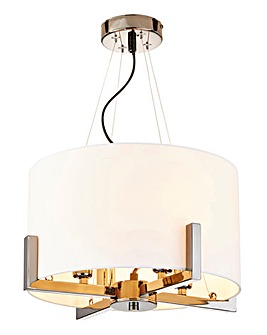 Samuel Black Chrome Ceiling Light