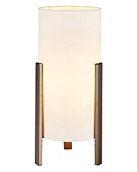 Samuel Chrome & Fabric Table Lamp