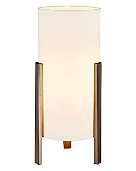 Samuel Black Chrome & Fabric Table Lamp