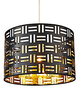 Paxton Black & Gold Pendant Shade