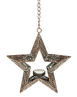 Marrakesh Hanging Star Tea Light Holder