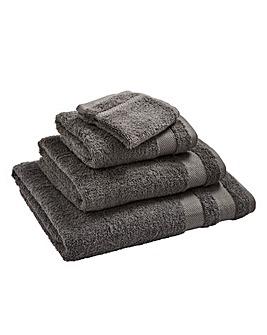 Egyptian Cotton Towel Range Steel Grey
