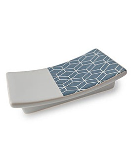 Geometric series ceramic soap dish