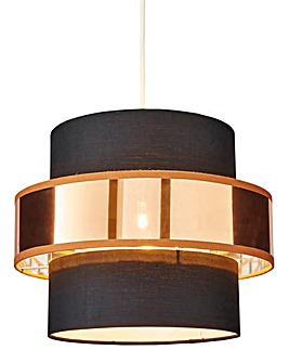 Luna Black and Copper Pendant Shade