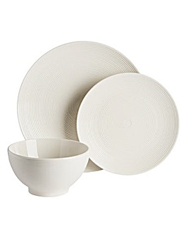 Serenity White 12 Piece Dinner Set