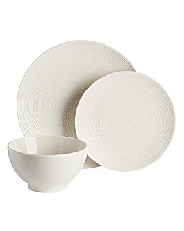 Serenity White 12 Piece Dinner Set