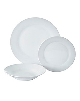 Simply White 12pc Dinner Set