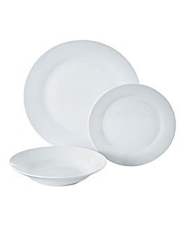 Simply White 12pc Dinner Set