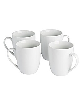 Simply White Set of 4 Mugs
