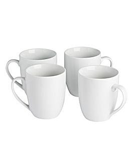 Simply White Set of 4 Mugs