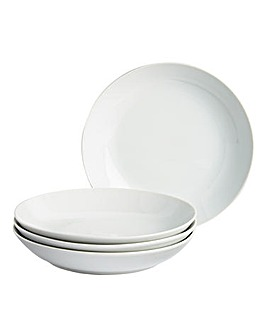 Simply White Set of 4 Pasta Bowls