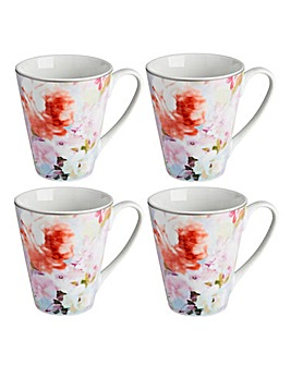 Blossom Set of 4 Mugs