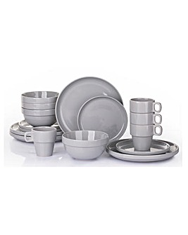 Slate 16 Piece Easy Stack Dinnerset