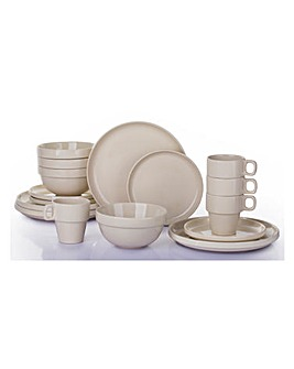 Latte 16 Piece Easy Stack Dinnerset