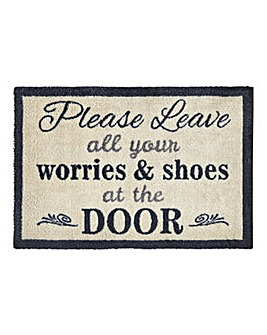 Leave Your Shoes at the Door Muddle Mat