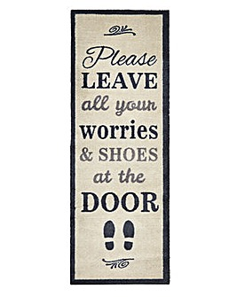 Leave Your Shoes At The Door Mat