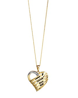 Precious Sentiments Gold Heart Pendant