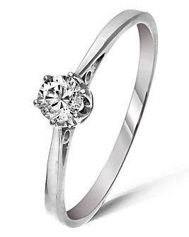 9 Carat Gold 1/4 Carat Solitaire Ring