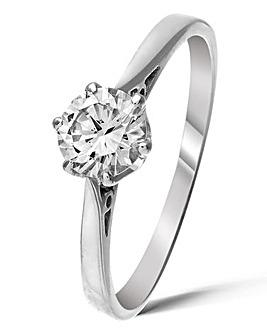 9 Carat Gold 1/2ct Diamond Ring