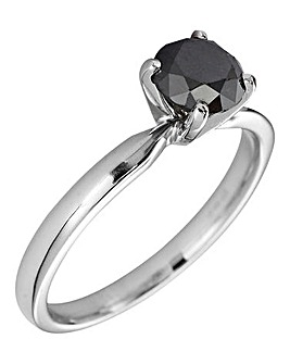 9 Carat White Gold Solitaire Ring